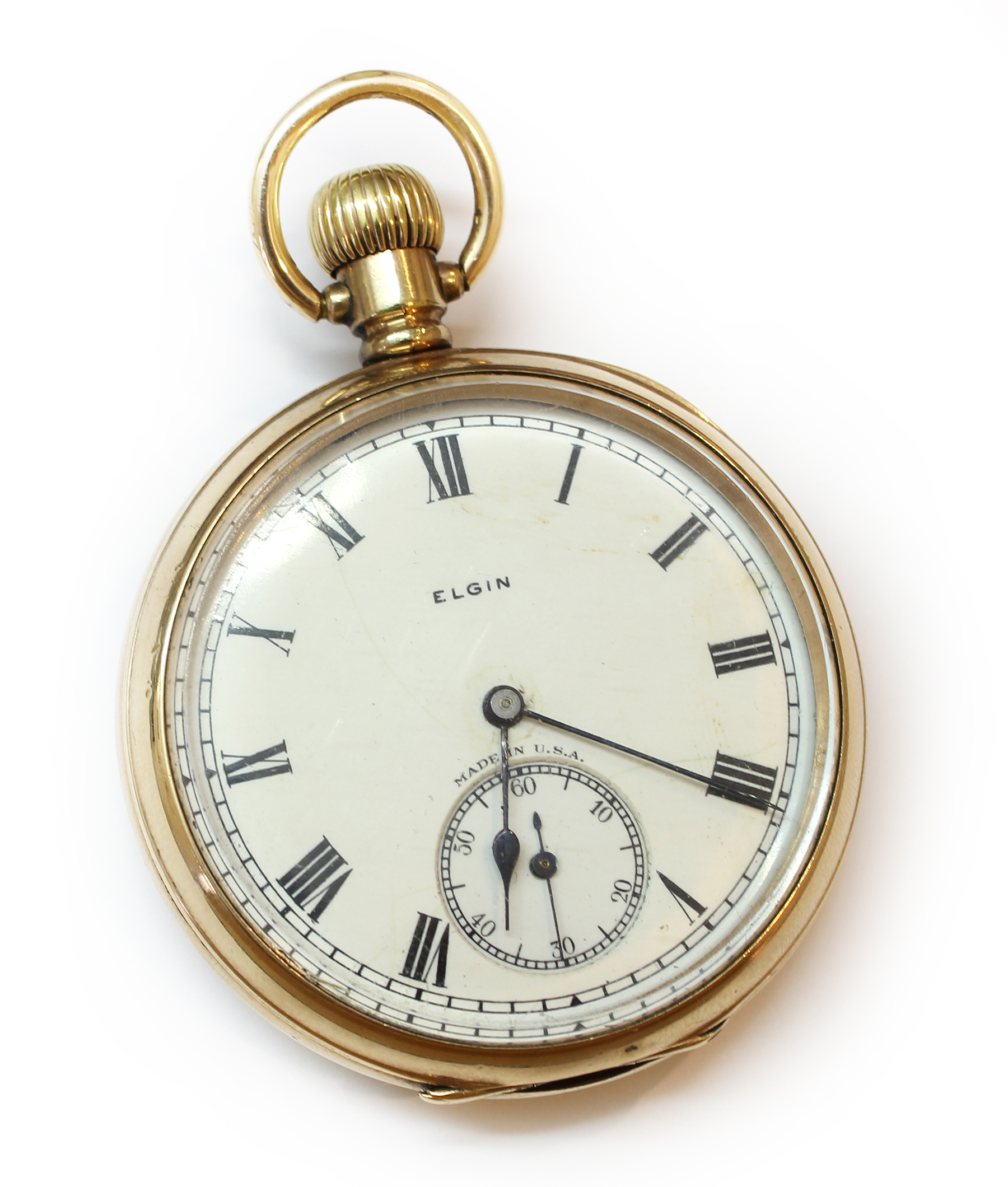 Antike taschenuhr  Antike TASCHENUHR, USA 1925: Elgin National Watch Corp Gold Doublé ...